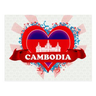 Amor Camboya del vintage I Postal