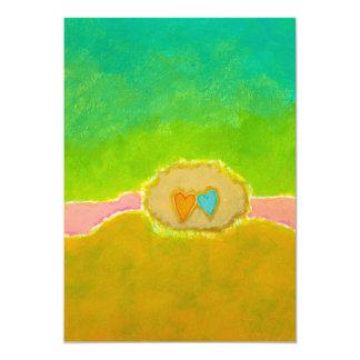 Amor caprichoso bonito del verano del arte del invitación 12,7 x 17,8 cm