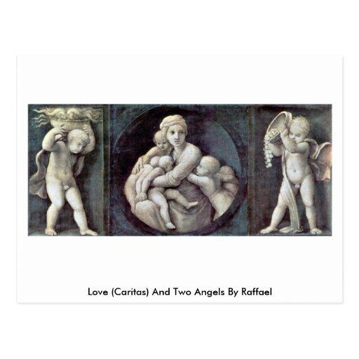 Amor (Caritas) y dos ángeles de Raffael Postal