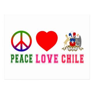 Amor Chile de la paz Postal