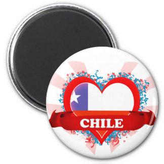 Amor Chile del vintage I Imán Redondo 5 Cm