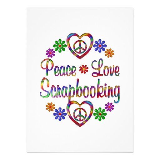 Amor colorido Scrapbooking de la paz Invitación Personalizada