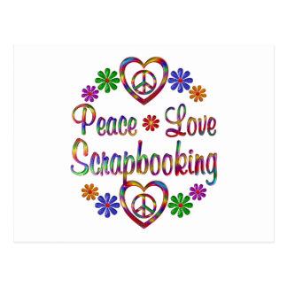 Amor colorido Scrapbooking de la paz Postal