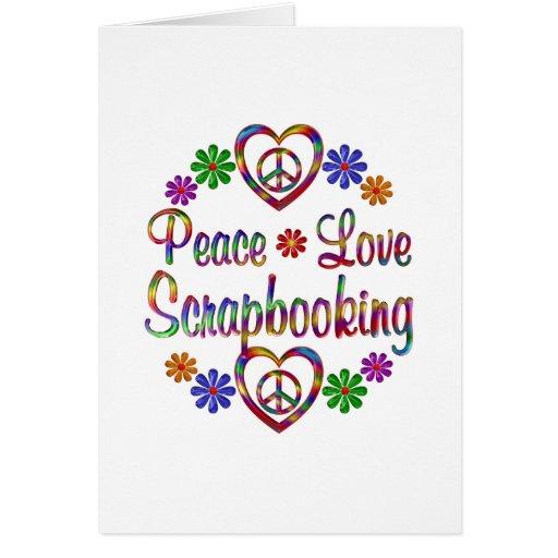 Amor colorido Scrapbooking de la paz Tarjeton