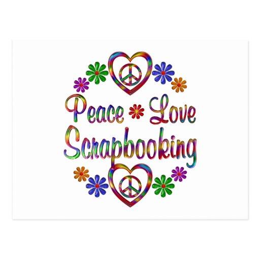 Amor colorido Scrapbooking de la paz Tarjetas Postales