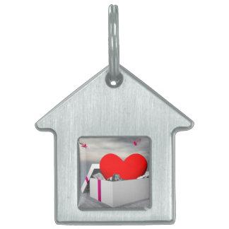 Amor como regalo - 3D rinden Placa Para Mascotas