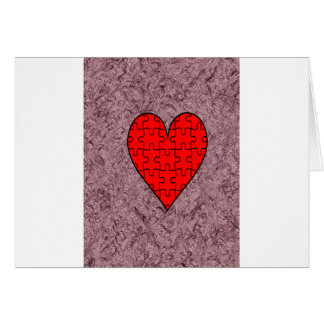 Amor con batik del adorno tarjeta de felicitación