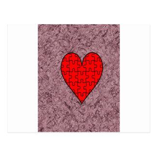 Amor con batik del adorno postal