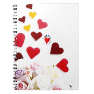 Amor con el rosa cuaderno
