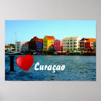 Amor Curaçao del papel de poster del valor I