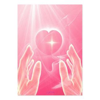 Amor curativo tarjetas de visita grandes