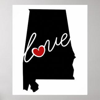 ¡Amor de Alabama!  Regalos para los amantes del AL Impresiones