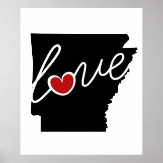 ¡Amor de Arkansas!  Regalos para los amantes de AK Poster