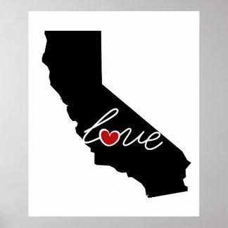 ¡Amor de California!  Regalos para los amantes de Poster