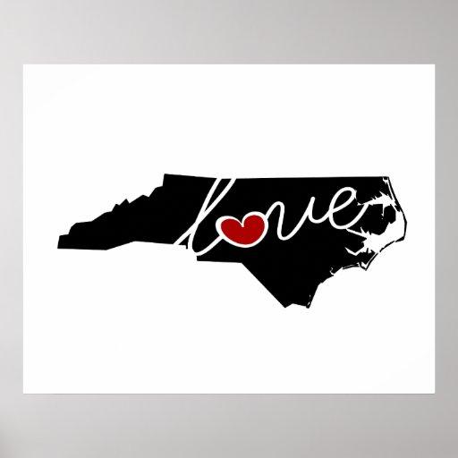 ¡Amor de Carolina del Norte!  Regalos para los Impresiones