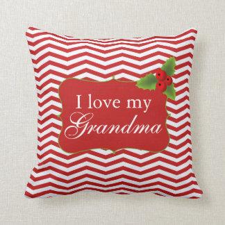 Amor de Chevron I de las Felices Navidad mi abuela Cojín