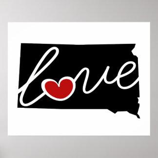 ¡Amor de Dakota del Sur!  Regalos para los amantes Posters