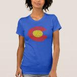 Amor de Denver del Grunge de la bandera del estado Camiseta
