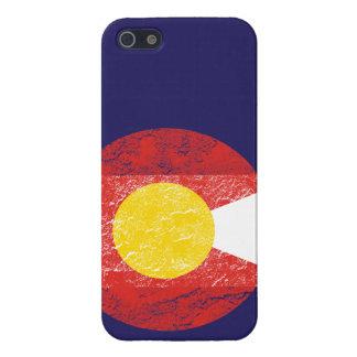 Amor de Denver del Grunge de la bandera del estado iPhone 5 Funda