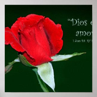 Amor de Dios es (cártel de 1 Juan 4: 8) Impresiones