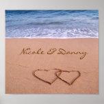 Amor de encargo en el poster de la playa