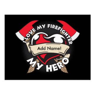Amor de encargo mi bombero tarjetas postales