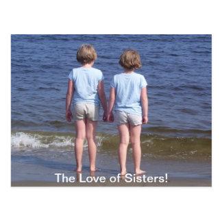 Amor de hermanas postal