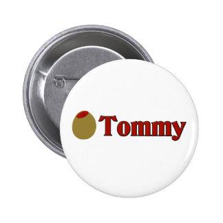 (Amor de I) Tommy verde oliva Chapa Redonda De 5 Cm