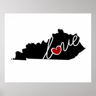 ¡Amor de Kentucky!  Regalos para los amantes de KY Impresiones