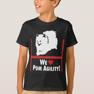 Amor de la agilidad de Pomeranian Camiseta
