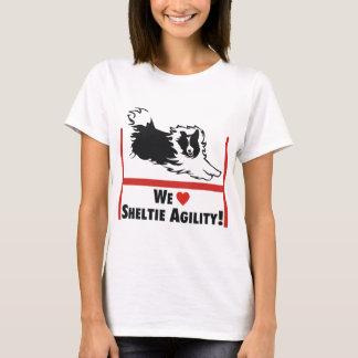 Amor de la agilidad de Sheltie Camiseta