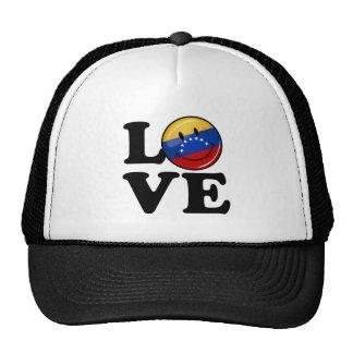 Amor de la bandera sonriente de Venezuela Gorros Bordados