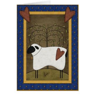 Amor de la condolencia del pastor tarjeta de felicitación