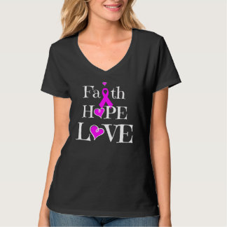 Amor de la esperanza de la fe, camisa de la