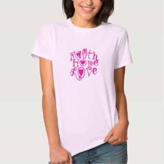 amor de la esperanza de la fe camisas