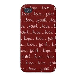 Amor de la esperanza de la fe……… iPhone 4 cárcasas