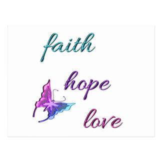 Amor de la esperanza de la fe postal