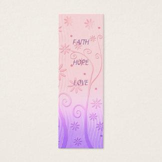 Amor de la esperanza de la fe - señal tarjeta de visita mini