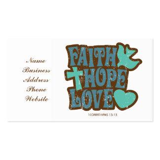amor de la esperanza de la fe