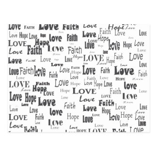 Amor de la esperanza de la fe postales