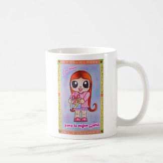 Amor de la estafa (taza) taza básica blanca