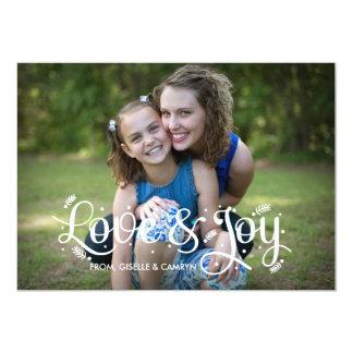 Amor de la familia de las festividades del día de invitación 12,7 x 17,8 cm