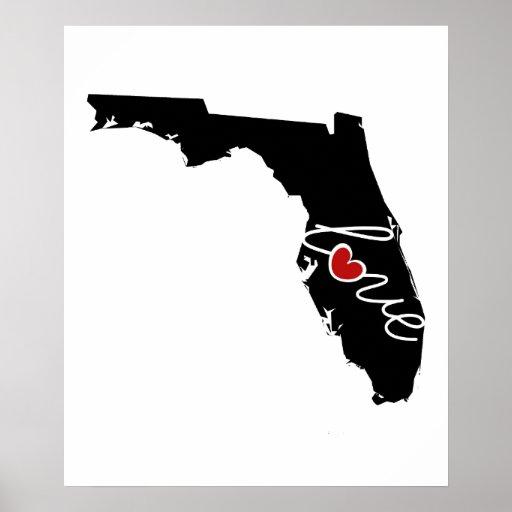 ¡Amor de la Florida!  Regalos para los amantes de Posters
