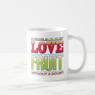 Amor de la fruta tazas