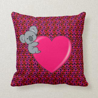 Amor de la koala cojín decorativo