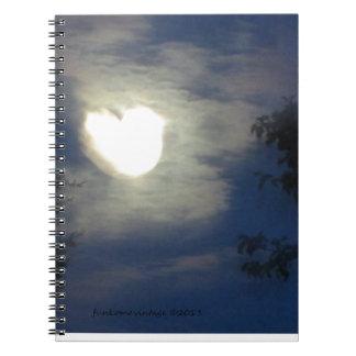 Amor de la luna libros de apuntes con espiral