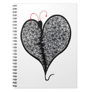 Amor de la mariposa cuaderno