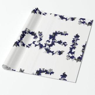 Amor de la mariposa papel de regalo