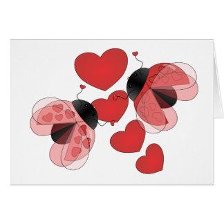 Amor de la mariquita tarjetas