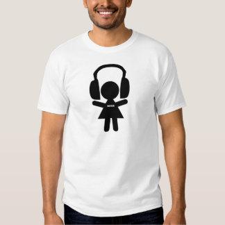 Amor de la música rock, amo la roca camiseta
